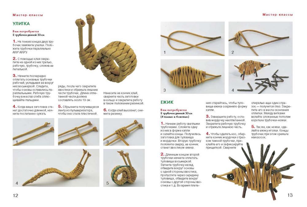 Поделки из газетных трубочек мастер класс для начинающих